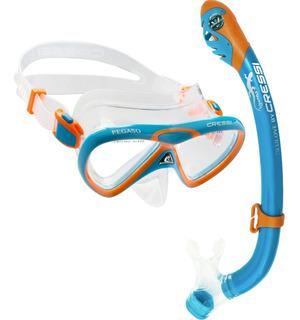 Combo Snorkeling Cressi Pegaso & Iguana Niños Envio Gratis!!