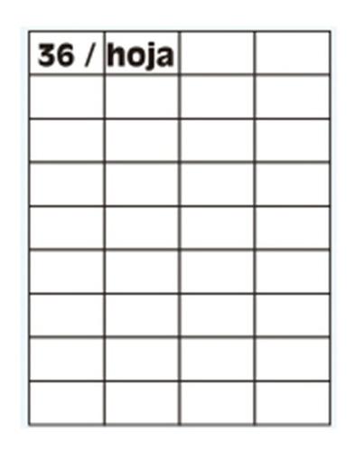 Imagen 1 de 10 de Papel Autoadhesivo A4 100 Hojas 36 Etiquetas 4125 52.5x33mm