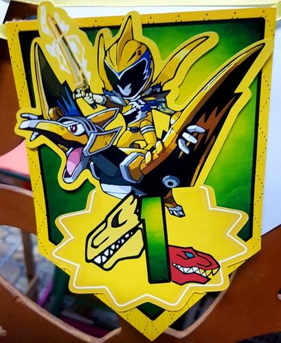 Kit Festa Em Casa Power Ranger Dino