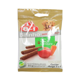Snack 8in1 Para Cães Sabor Maçã E Cenoura 55g