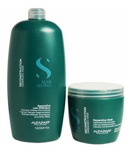 Alfaparf Semi Di Lino Reestructurante Pelo Shampoo +mascara