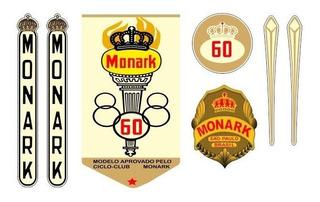 Adesivo Para Monark Olimpica 60 São Paulo - Frete Grátis
