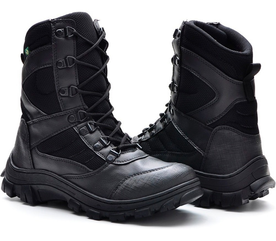 Bota Masculina Sapato Sapatenis Coturno Cano Médio Militar