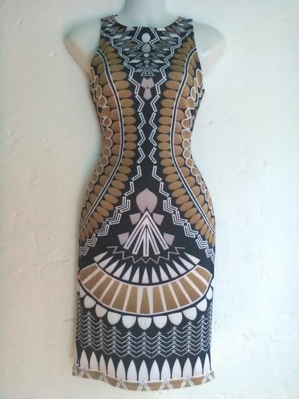 Vestido Entallado Grecas Diamante Silueta Reloj
