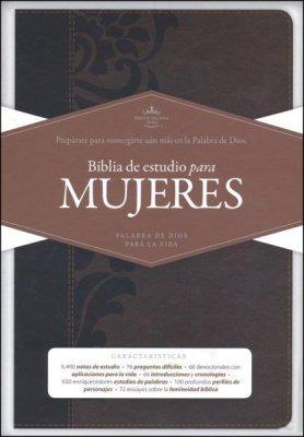 Imagen 1 de 4 de Biblia De Estudio Para Mujeres Rvr60 Café