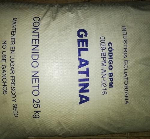 Imagen 1 de 5 de Gelatina En Polvo Comestible  25kg
