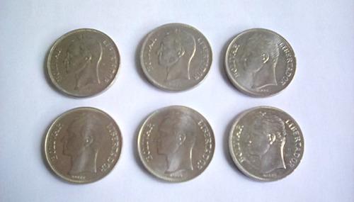 Colección Monedas 5 Bs Niquel 1973/1977/1987/1988/1989/1990