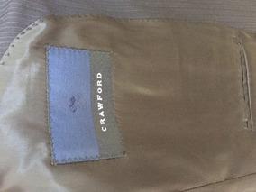 Terno Azul Escuro Riscado Crawford 100% Lã
