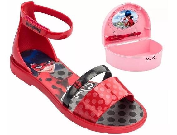 Sandalia Infantil Ladybug + Porta Segredos - Ref. 21695