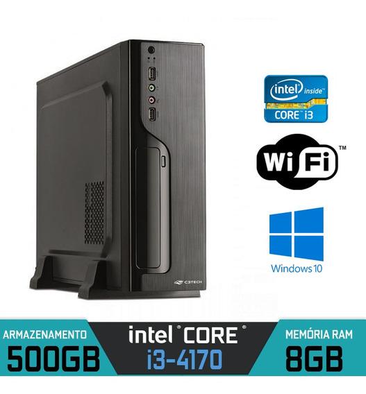 Mini Pc Intel Core I3-4170 Ram 8gb Hd 500gb Wifi Windows 10
