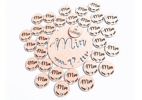 Imagen 1 de 8 de Kit Nacimiento 1 Central + 20 Souvenirs - Mdf