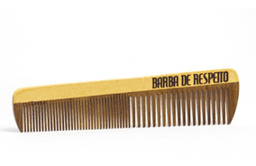 Pente De Madeira Barba E Cabelo - Large Wood