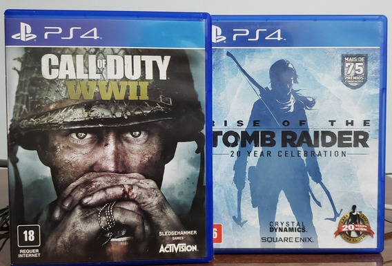 Jogos Ps4 - Rise Of Tomb Raider + Call Of Duty Wwii