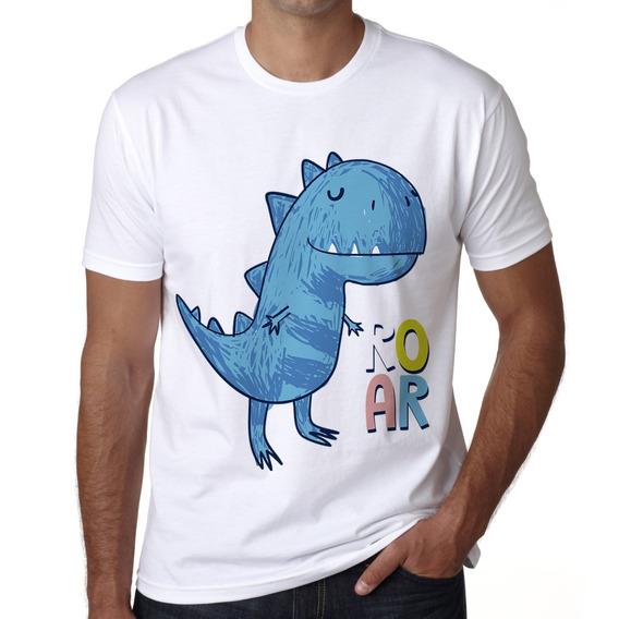 Playera Dinosaurio Rex Dino Roar Dibujado Token A La Moda