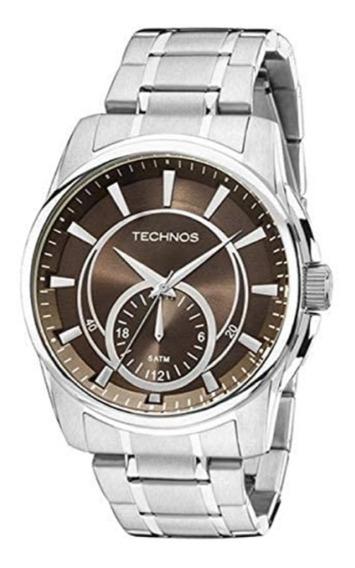 Relógios Masculino Technos Analogico Pulseira Aço 6p28ab/1m