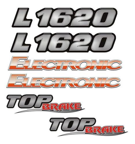 Imagem 1 de 4 de Kit Emblemas Mercedes Eletrônico L 1620 Electronic Top Brake