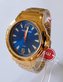 Relógio Masculino Dourado Mondaine Original 83452gpmvde2
