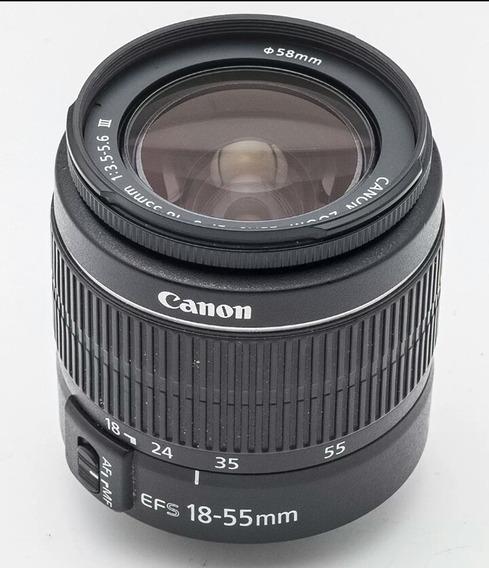 Lente Canon Efs 18 -55mm F/4.5,22 Is , Stm