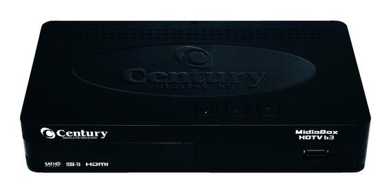 Receptor + Conversor Midiabox B3 Hd Tv Century Midia Box