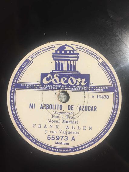 Disco De Pasta 78 Rpm Frank Allen Odeon 55973