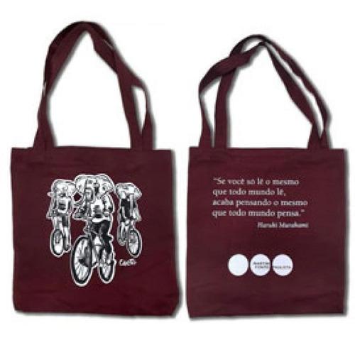 Imagem 1 de 1 de Ecobag Vinil - Martins Fontes - Elefantes De Bicicleta - Vin