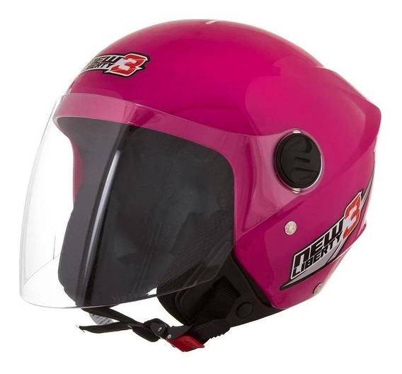 Capacete para moto aberto Pro Tork New Liberty Three rosa tamanho 56