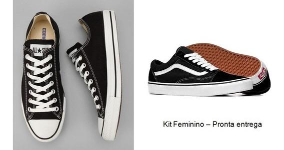 Kit Com 2 Preço De 1 Tênis Vans Old + All Star Converse