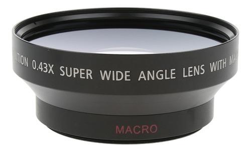 Imagem 1 de 9 de Lente Grande Angular 62mm 0.43x Com Macro Para Câmeras