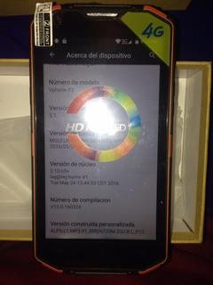 Celular Resistente Waterproof Naranja V8 En Caja Libre Ver#2