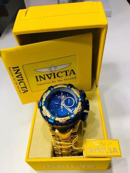 Relógio Invicta Bolt 21346 Original Banhado Ouro 18k + Nfe
