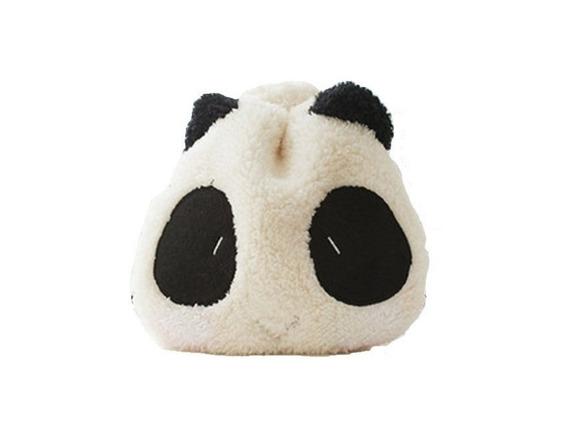 Bolsa Panda Pelúcia Necessaire Kawaii Bolsinha Fofa 1