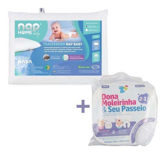 Travesseiro Infantil Nasa Nap Baby Rn + Dona Moleirinha