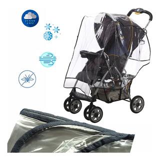 Forro Plastico Protector De Lluvia Coche Para Bebe Azul