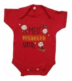 Bore Meu Primeiro Natal Menina Menino Unissex P M Ou G Bebês