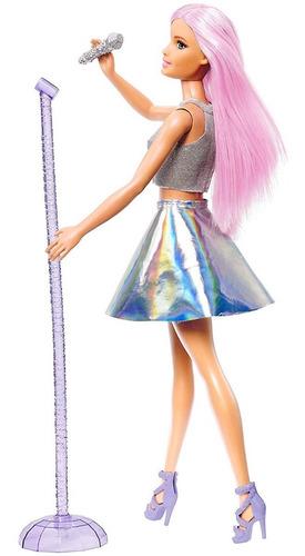 Imagen 1 de 5 de Barbie Quiero Ser Cantante Con Accesorios Mattel Fxn98