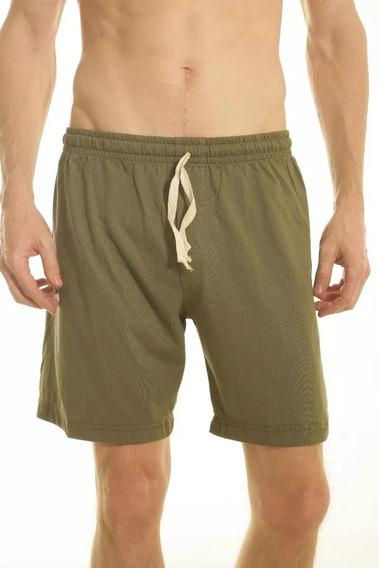 Pantalon Pijama Corto Hombre Jersey Verano Talle Especial