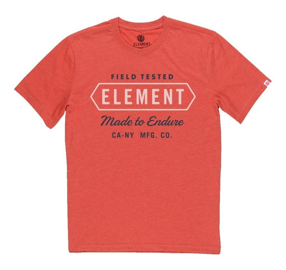 Remera M/c Element Station Tee Red Hombre