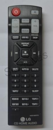 Controle Remoto Mini System Lg Akb73655701 Cm8520 Cm9520 Akb