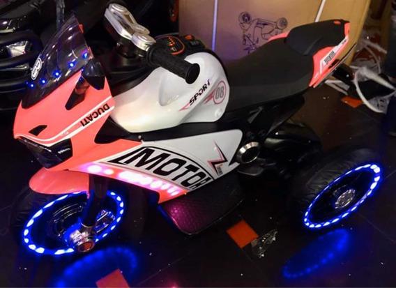 Motor Ducati Para Niñas 4-6 Años Luces Música Usen Memoria