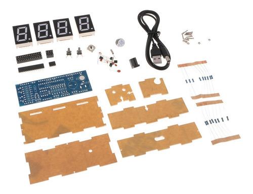 Imagen 1 de 6 de Kit De Reloj Led Digital Control De Luz Temperatura