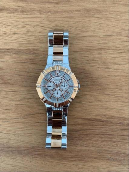 Relógio Guess Rosé Com Strass - U0024l1
