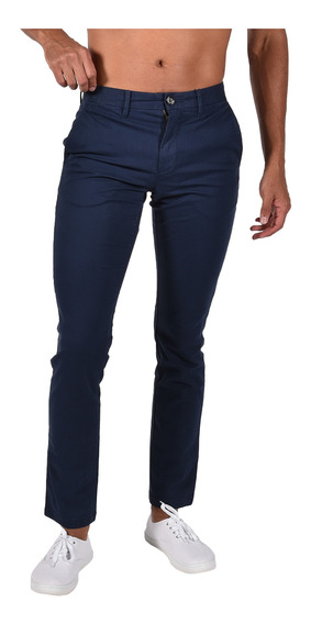 Pantalón Slim Fit Tommy Azul Mw0mw06393416 Hombre