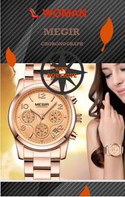 Relógio Feminino De Luxo Megir