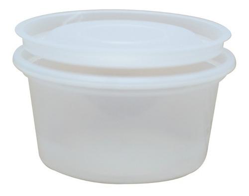 Imagen 1 de 5 de Pote De Plástico  55 Cc Con Tapa Ideal Aderezos X 1300 Und