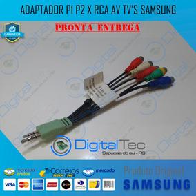 Adaptador P1 P2 X Rca Av Tv Monitor Samsung T24a550 T27a550