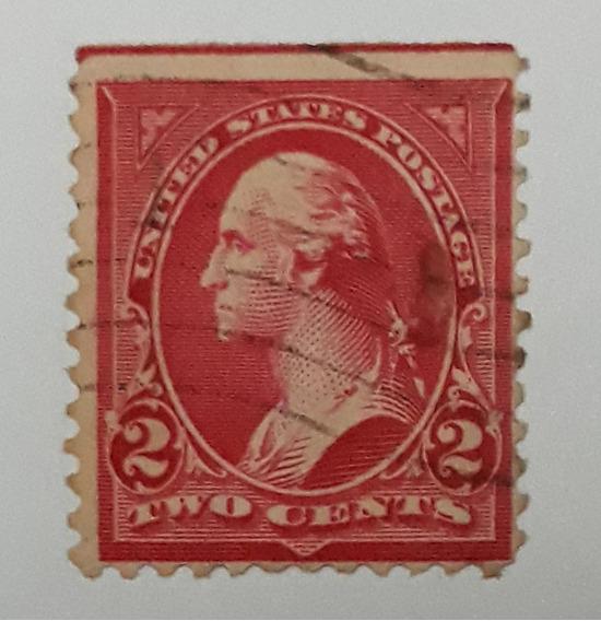 Estampilla Estados Unidos Washington 2 Centavos #279b Usada