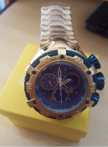 Relógio De Luxo Dourado Pesado - Lançamento - Data Funcional