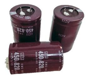 Kit 3x Capacitores 450v 820uf 35x50mm