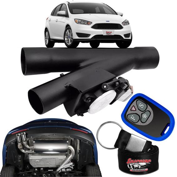 Difusor De Escapamento Esportivo Preto Fosco - Ford Focus