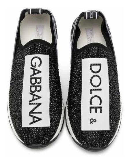 Dolce & Gabbana Tenis Dama Negro